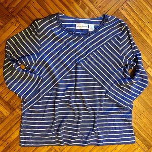 Alfred Dunner Striped Cotton Blouse